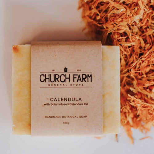 Church Farm Calendula Handmade Soap (180g)