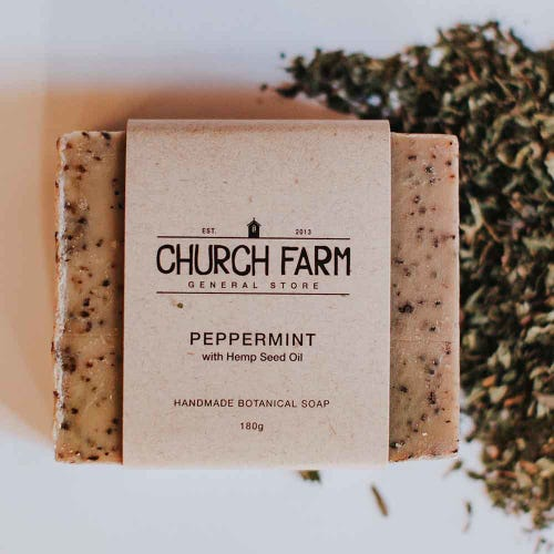 Church Farm Peppermint & Hemp Handmade Soap (180g)
