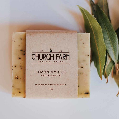 Church Farm Lemon Myrtle Handmade Soap (180g)