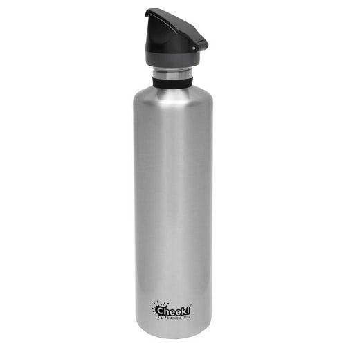 Cheeki Single Wall Active Bottle 1 Litre - Silver
