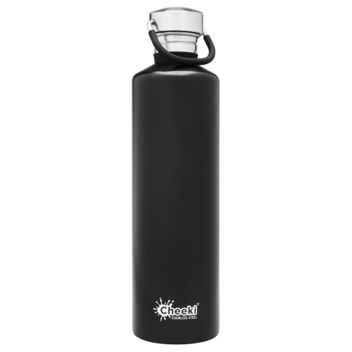 Cheeki Single Wall Water Bottle 1L - Matte Black