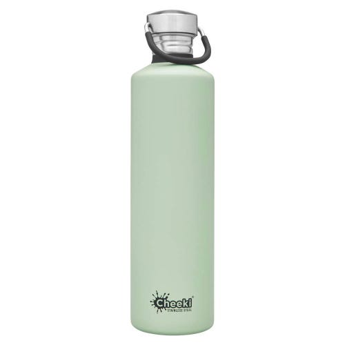 Cheeki Single Wall Water Bottle 1L - Pistachio
