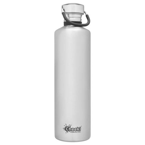 Cheeki Single Wall Water Bottle 1L - Silver