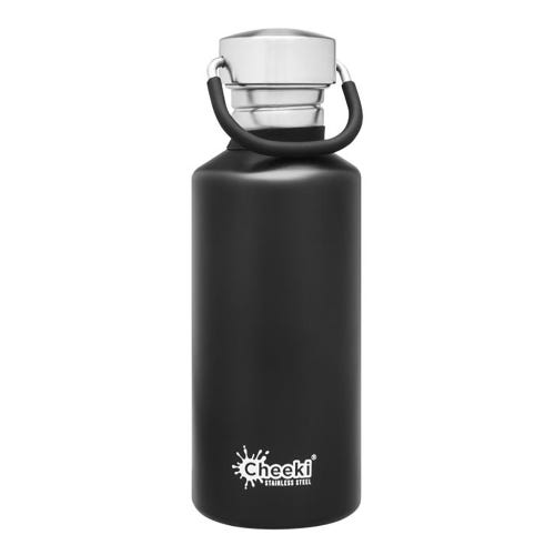 Cheeki Single Wall Water Bottle 500ml - Matte Black