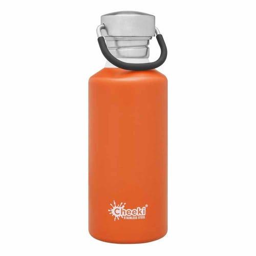 Cheeki Single Wall Water Bottle 500ml - Orange