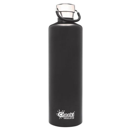 Cheeki Insulated Water Bottle 1L - Matte Black
