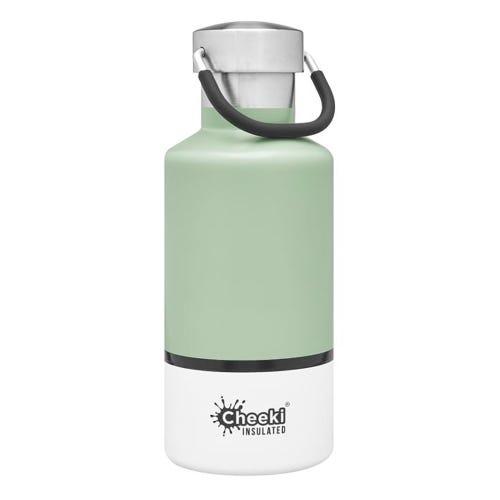 Cheeki Insulated Water Bottle 400ml - Pistachio White
