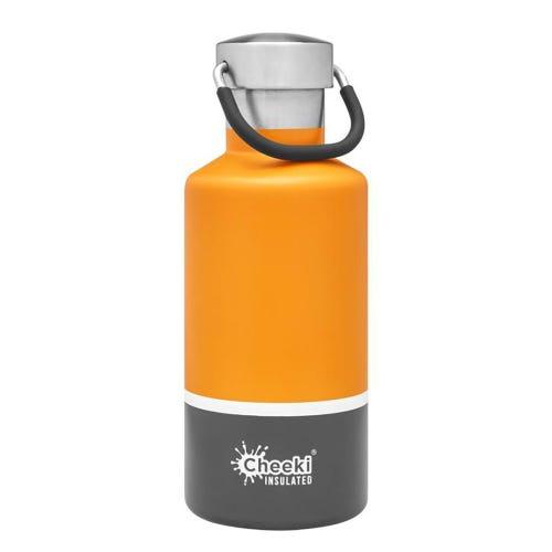 Cheeki Insulated Water Bottle 400ml - Sunshine Grey
