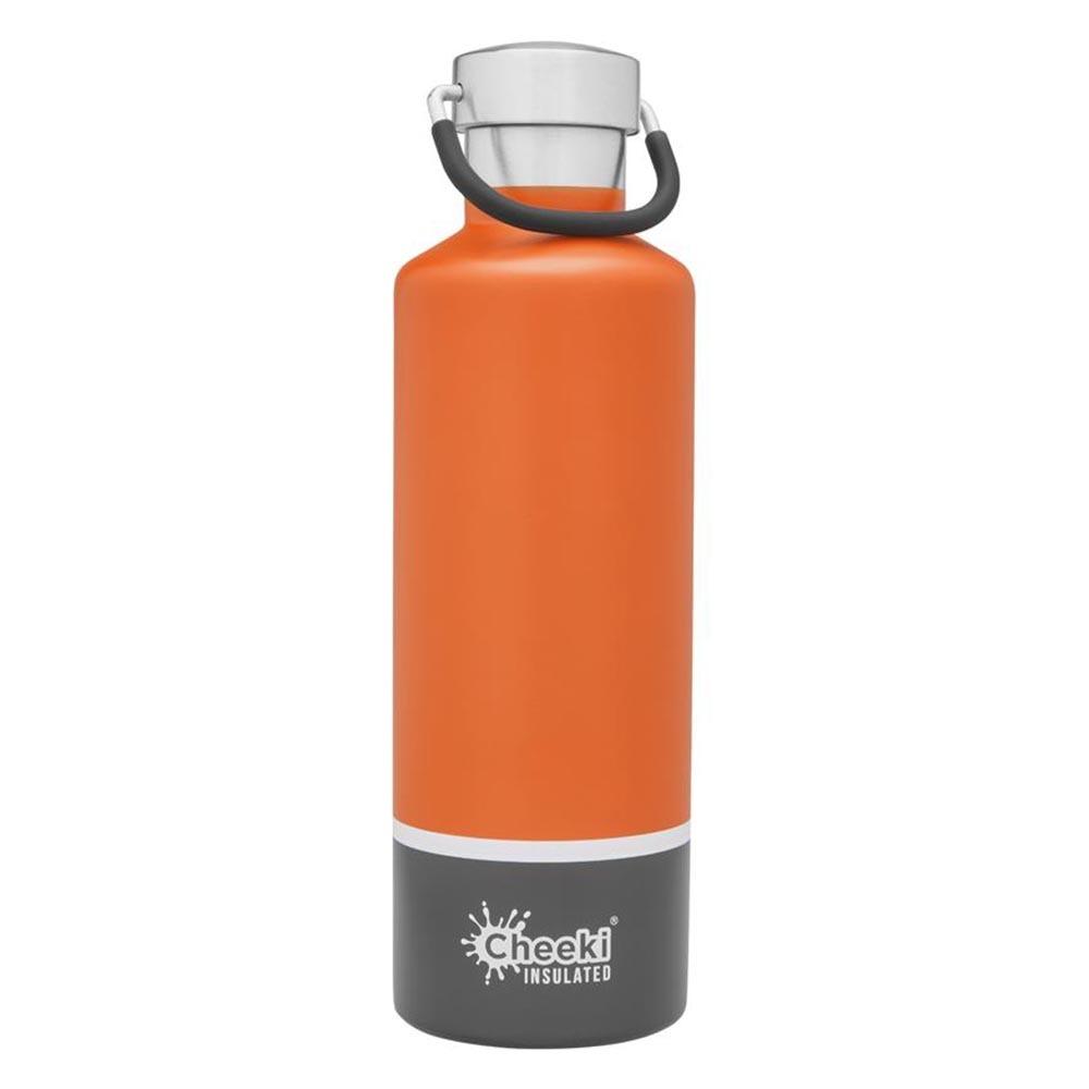 Cheeki Insulated Water Bottle 600ml - Orange Grey
