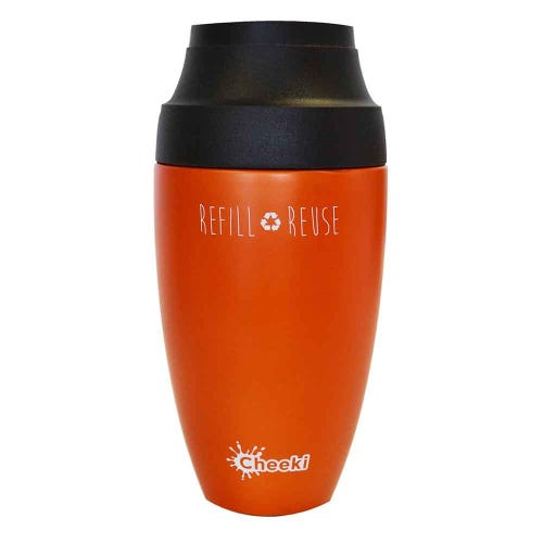 Cheeki Leakproof Coffee Mug 350ml - Orange