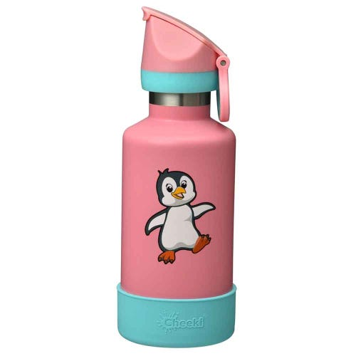 Cheeki Insulated Kids Water Bottle 400ml - Pia the Penguin