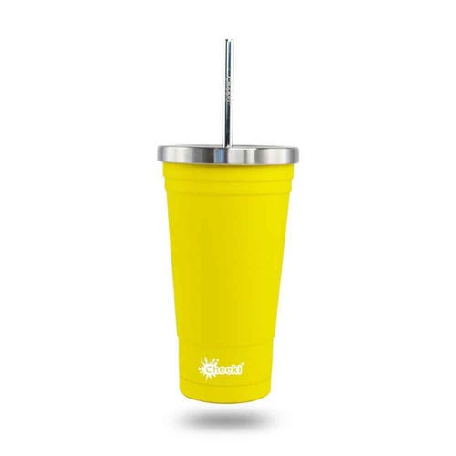 Cheeki Insulated Smoothie Tumbler 500ml - Lemon
