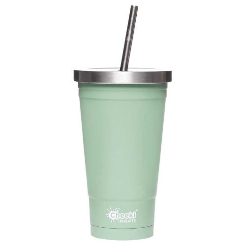 Cheeki Insulated Smoothie Tumbler 500ml - Pistachio