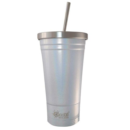 Cheeki Insulated Smoothie Tumbler 500ml - Rainbow Pearl