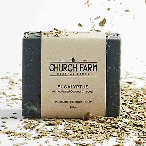 Church Farm Eucalyptus & Activated Coconut Charcoal Handmade Soap (180g)