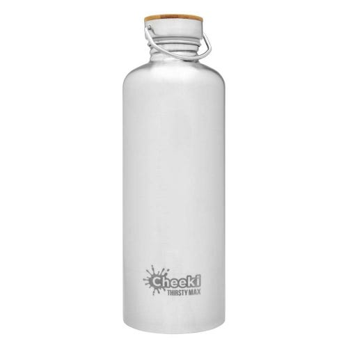 Cheeki Single Wall Water Bottle 1.6L - Silver
