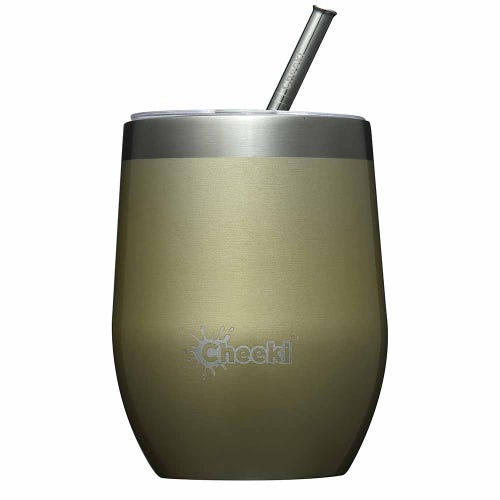Cheeki Insulated Wine Tumbler 320ml - Soft Gold