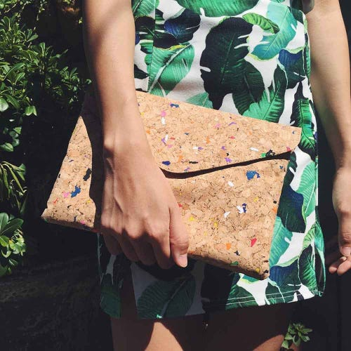 By The Sea Collection Cork Vivid Clutch Bag