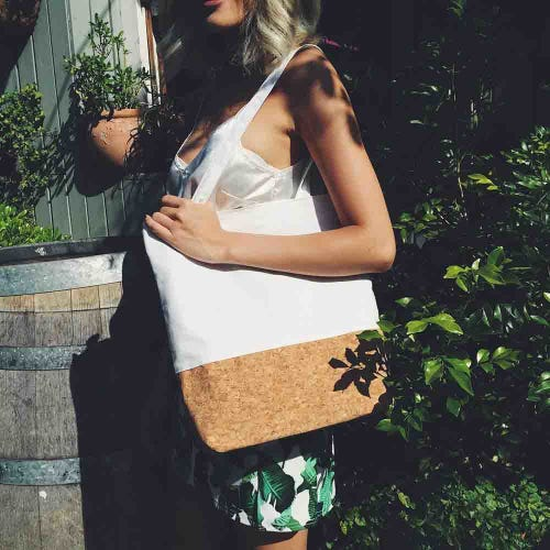 By The Sea Collection Cork Canvas Tote Bag