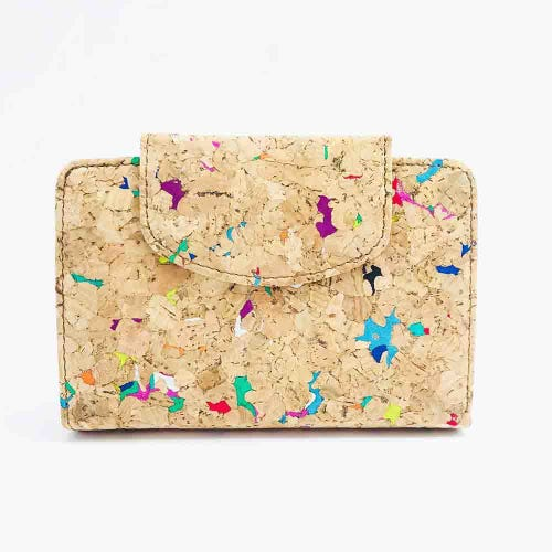 By The Sea Collection Cork Vivid Fiora Wallet