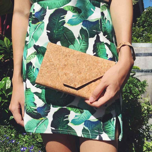 By The Sea Collection Cork Classic Flora Clutch