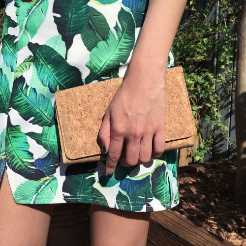 By The Sea Collection Cork Classic Lyla Clutch