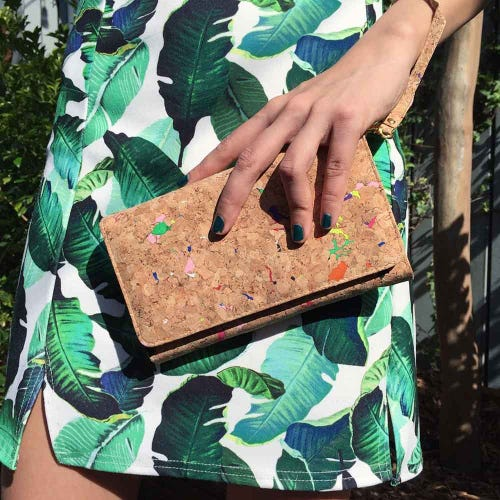 By The Sea Collection Cork Vivid Lyla Clutch