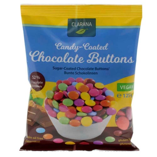 Clarana Candy Coated Choc Buttons (125g)