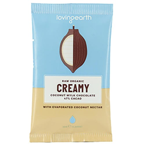 Loving Earth Creamy Coconut Mylk Organic Chocolate (30g)