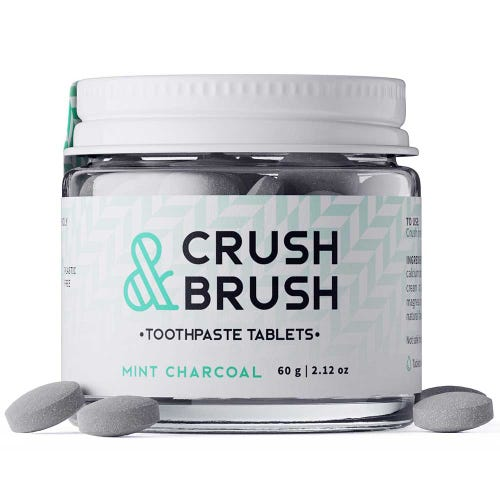 Crush & Brush Toothpaste Tablets Mint Charcoal (60g)