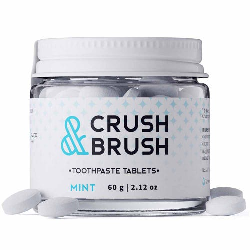 Crush & Brush Toothpaste Tablets Mint (60g)