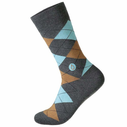 Conscious Step Men's Socks - Give Water (Argyle)
