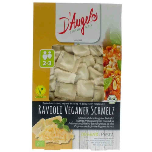 "D'Angelo Organic ""Vegan Melt"" Cheese Ravioli (250g)"