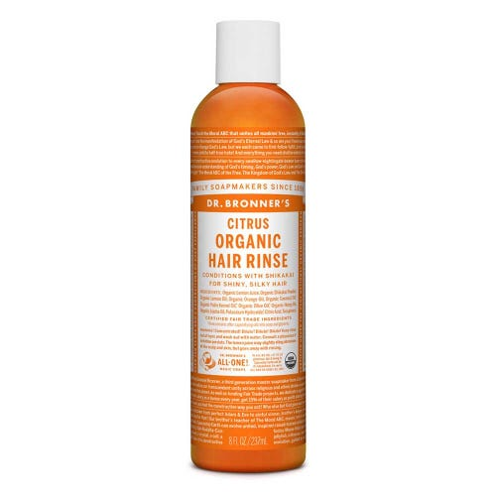 Dr Bronner's Organic Hair Rinse - Citrus (237ml)