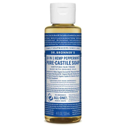 Dr Bronner's Liquid Soap - Peppermint (118ml)
