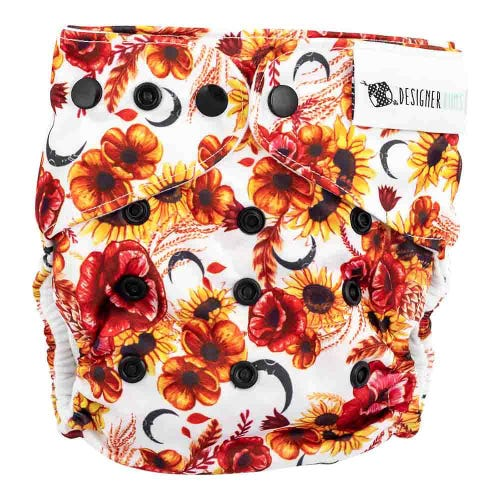 Designer Bums Reusable Nappy - Autumn Harvest