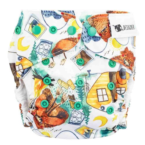 Designer Bums Reusable Nappy - Big Foot