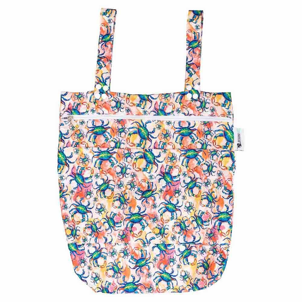 Designer Bums Wet Bag - Blue Swimmer