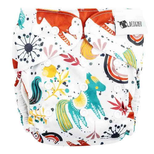 Designer Bums Reusable Nappy - Boho Pony
