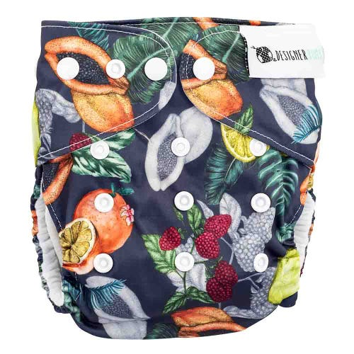 Designer Bums Reusable Nappy - Dark Orchard