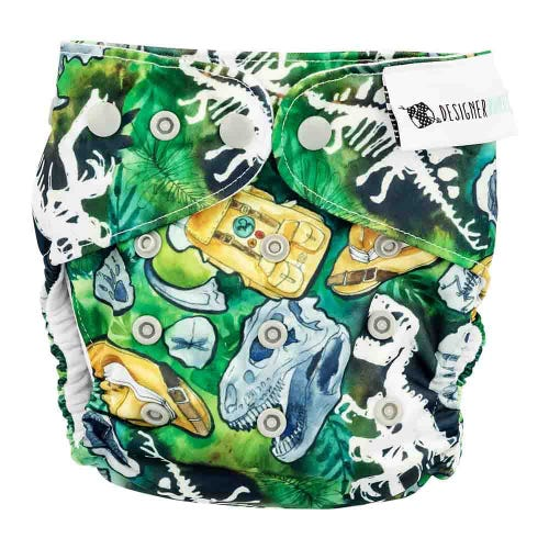 Designer Bums Reusable Nappy - Dino Safari