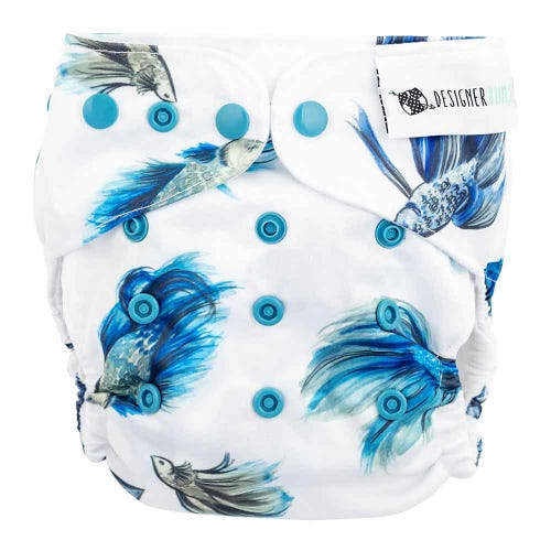 Designer Bums Reusable Nappy - Fighting Fish