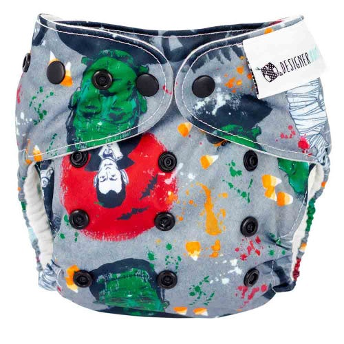 Designer Bums Reusable Nappy - Fright Night