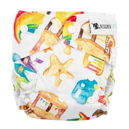 Designer Bums Reusable Nappy - Happy Play