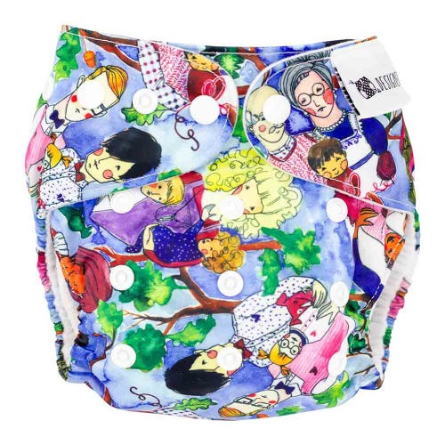 Designer Bums Reusable Nappy - Love is Love