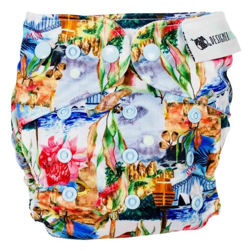 Designer Bums Reusable Nappy - NSW
