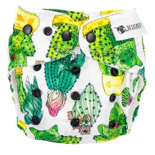 Designer Bums Reusable Nappy - Prickly Paws