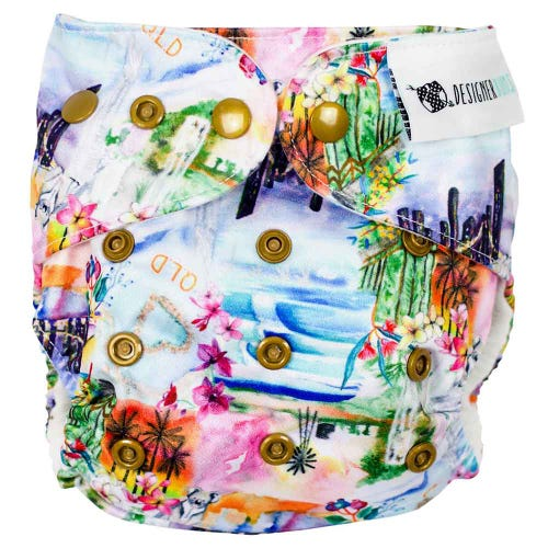 Designer Bums Reusable Nappy - QLD
