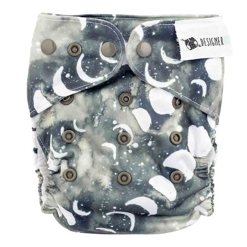Designer Bums Reusable Nappy - Smoky Quartz Moon