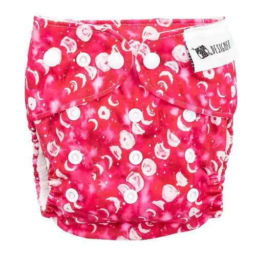 Designer Bums Reusable Nappy - Strawberry Moon